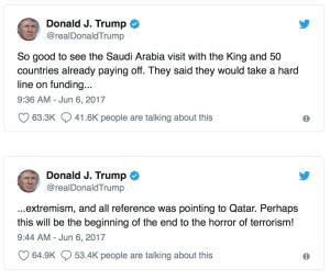 Trump qat saud